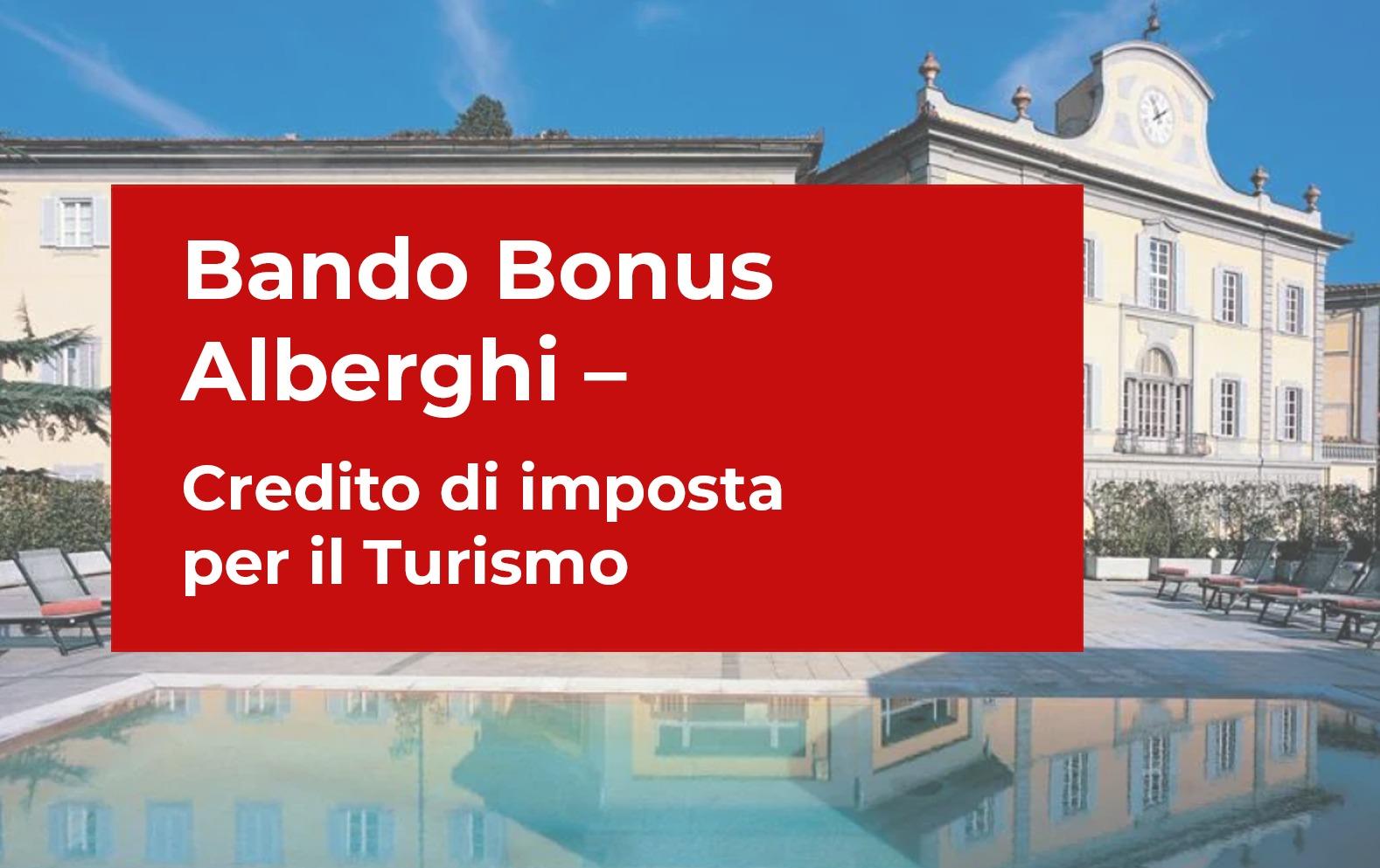 bando bonus alberghi credito di imposta