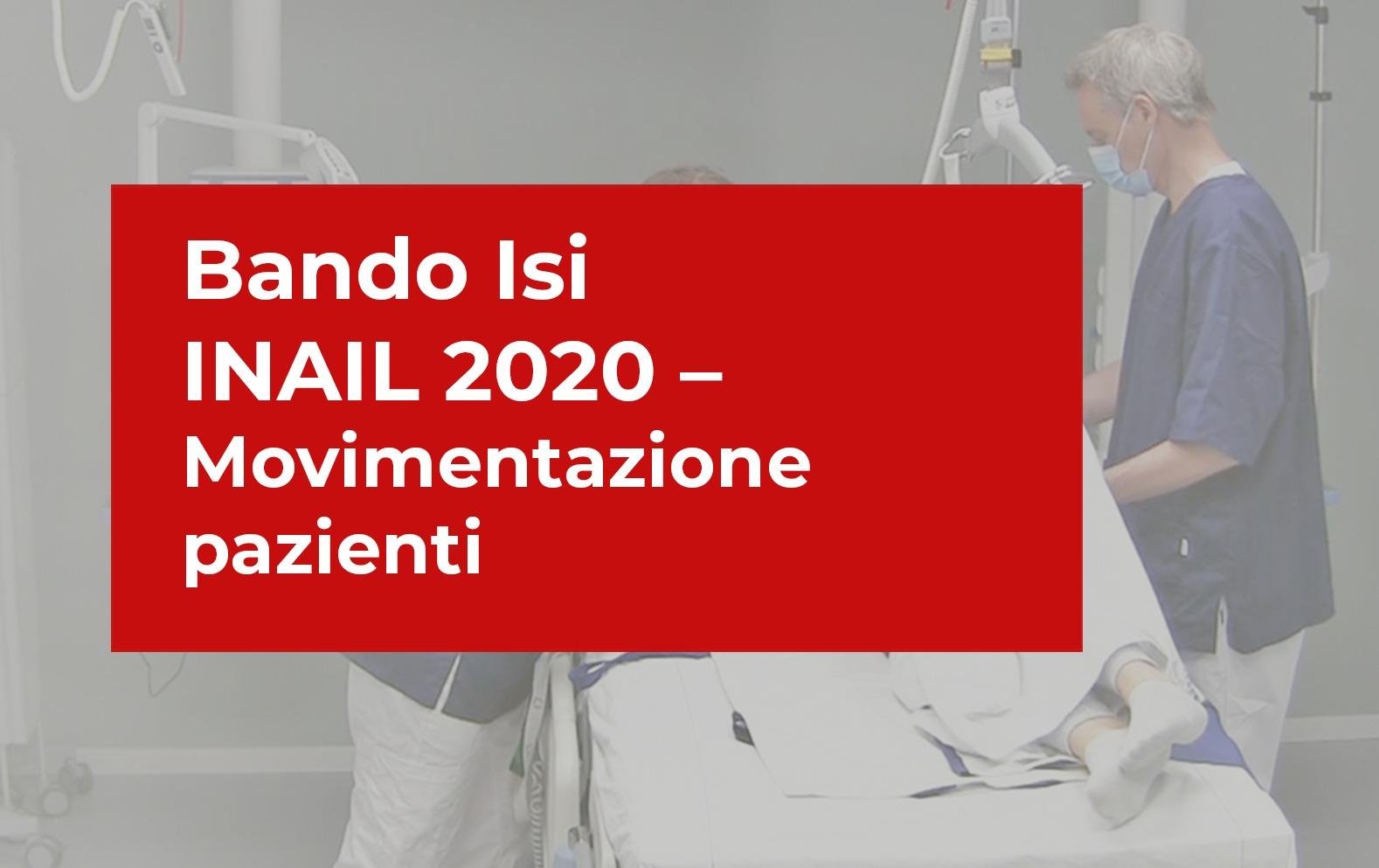 bando isi inail 2020_movimentazione pazienti