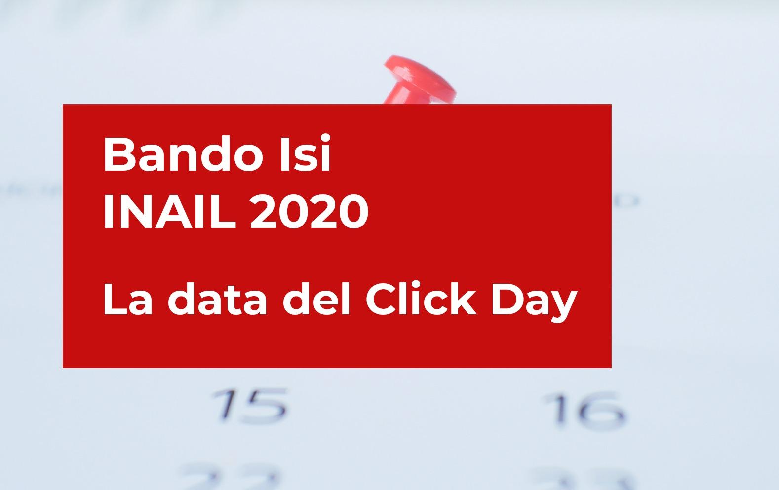 Bando Isi INAIL 2020: le date